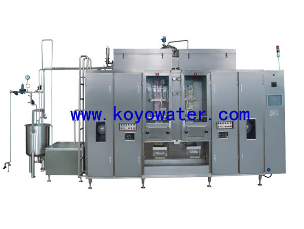 Full-automatic sterile flexible milk sachet produce line