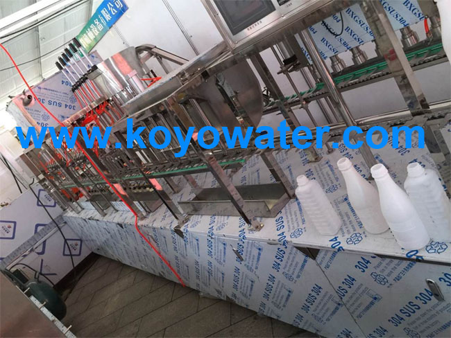 milk bottle filling foil sealing machine