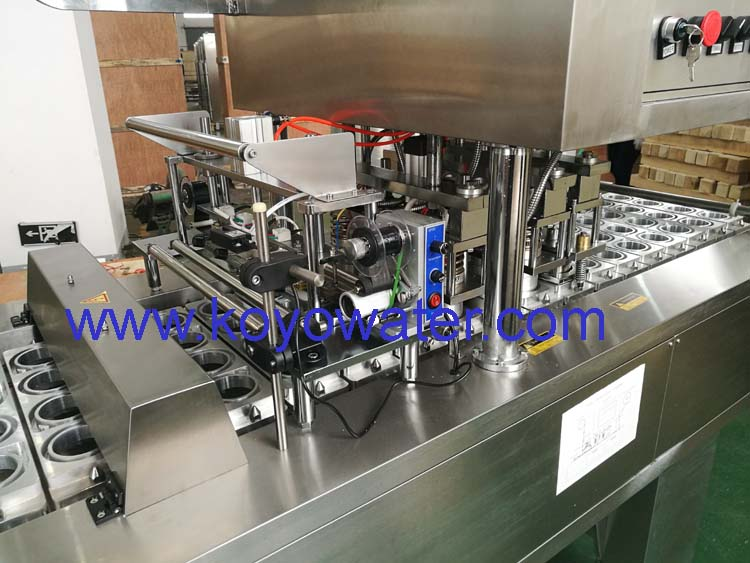 plastic cup filling and sealing machine