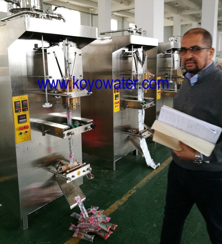ice pop filling and sealing machine